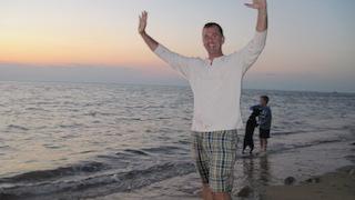 Victor Cataldo on beach