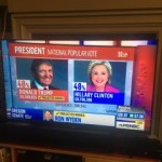 Election results 2016 TV screen